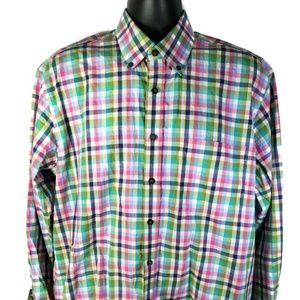 Alan Flusser Plaid Long Sleeve Shirt
